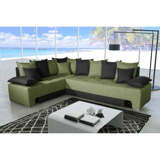 Rocambolesk Canapé Duo plus savana orange 18 / sawana 14 noir sofa divan