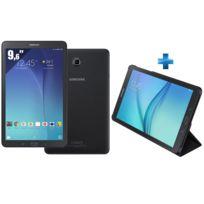 Galaxy Tab E 9,6'' SM-T560 - 8 Go - Wifi - Noir + Etui à rabat pour Galaxy Tab E 9,7 pouces - Noir