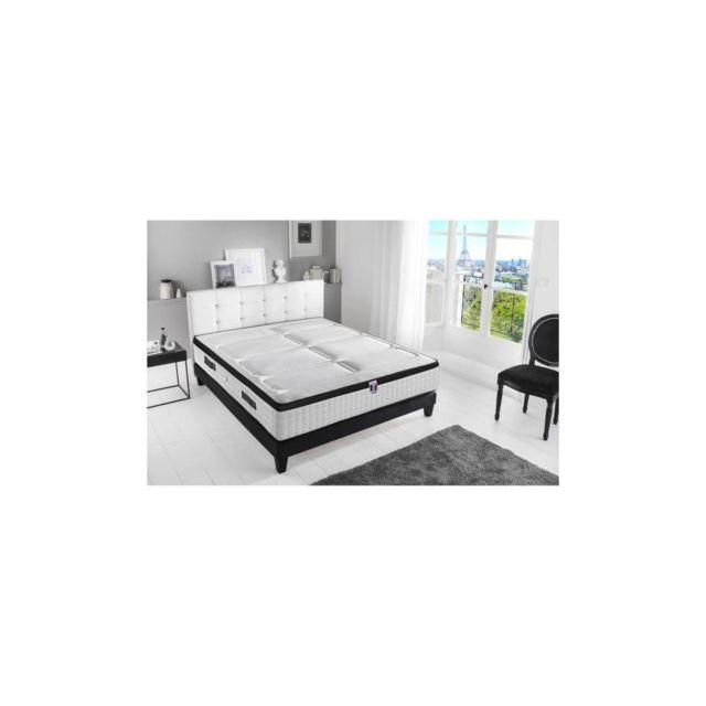 Confort Design Matelas 140 X 190 - Ressorts Et Mousse Memoire - 30 Cm - 7 Zones - Ferme - Hotel Palace