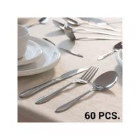 Bravissima Kitchen - Ménagère en Acier Inoxydable 60 pièces