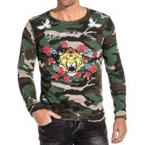 62bf4909227cd Sweat camouflage imprimé tiger rose