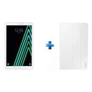 Samsung - Galaxy Tab A6 - 10,1'' - 16 Go - 4G - Blanc + Book Cover Galaxy Tab A 10.1'' 2016 - Blanc