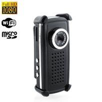 Yonis - Mini caméra WiFi portable 1080p P2P compatible iPhone Android Pc noir
