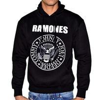 Famous - Sweat à Capuche - Homme - Ramones - Noir