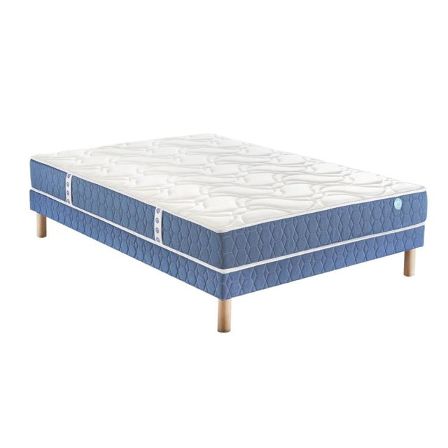 merinos ensemble matelas story 520 ressorts confort ferme 120x200 blanc pas cher achat. Black Bedroom Furniture Sets. Home Design Ideas