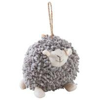 AUBRY GASPARD - Mouton à suspendre en coton gris Shaggy