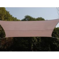 Hespéride - Voile d'ombrage rectangulaire 2 x 3 m Curacao - Taupe