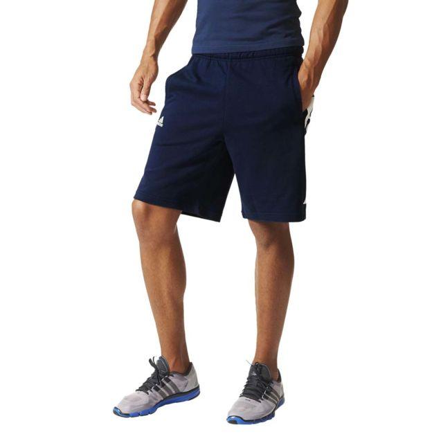 adidas performance short adidas essential lin short bleu pas cher achat vente short homme. Black Bedroom Furniture Sets. Home Design Ideas