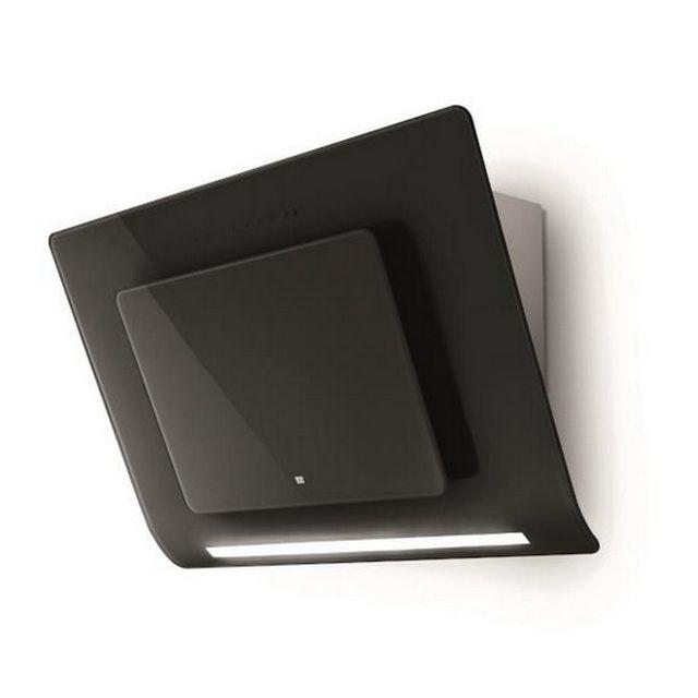 ROBLIN hotte décorative inclinée 80cm 720m3/h noir/verre - 5038012