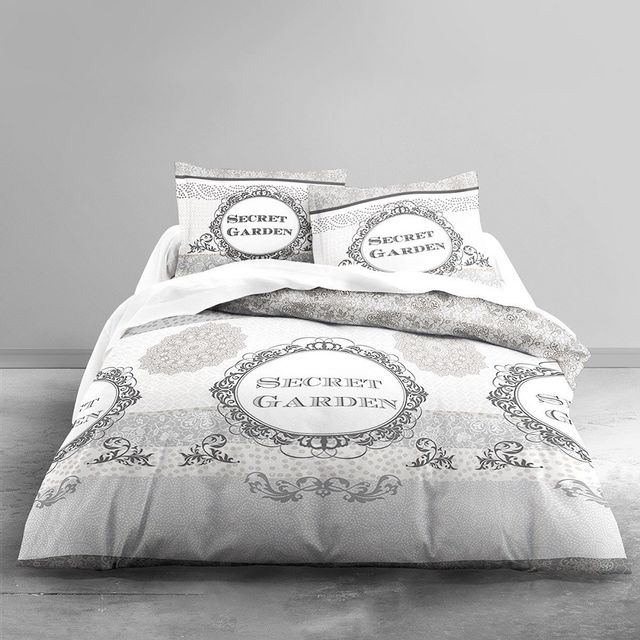 Today Housse De Couette Secret Garden 220x240 2 Taies 100 Coton