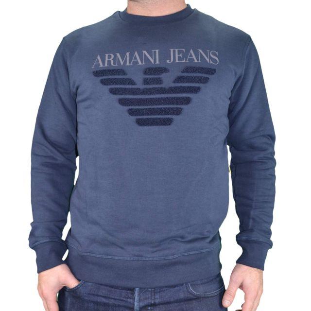 2a24c9288859 Armani Ea7 - Armani Jeans - Sweat Shirt - Homme - 6y6m09 6j1mz - Navy
