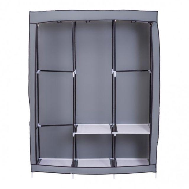 mobili rebecca porte chausseures rangement tissu gris 5 etageres pliage chambre hall pas. Black Bedroom Furniture Sets. Home Design Ideas