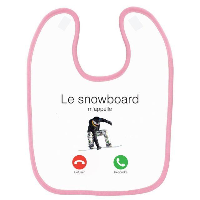 Bavoir bébé imprimé jet-ski m/'appelle