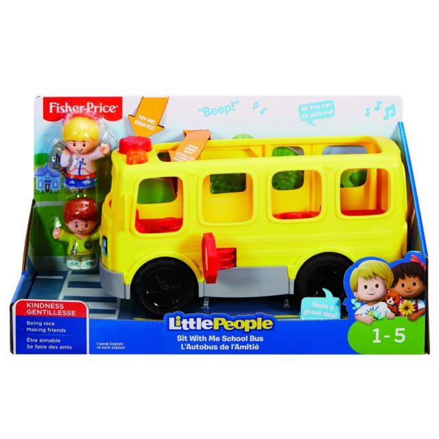 FISHER PRICE LP LE BUS SCOLAIRE - FKW98 Voici un bus scolaire LP permettant d'encourager les enfants à développer leur sociabilité ainsi que leur empathie grâce au contenu musical émotionnel avec le bouton des d&eac