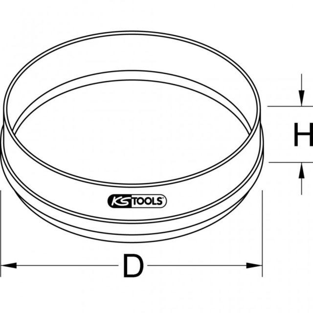 KS TOOLS 144.0564 Tamis professionnel N/°12 /Ø 42 mm Maille 1,9 mm