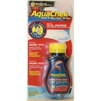 piscine - AQUACHEK ROUGE BROME TOTAL/PH/TAC/TH - 50U/TUBE AQUABR