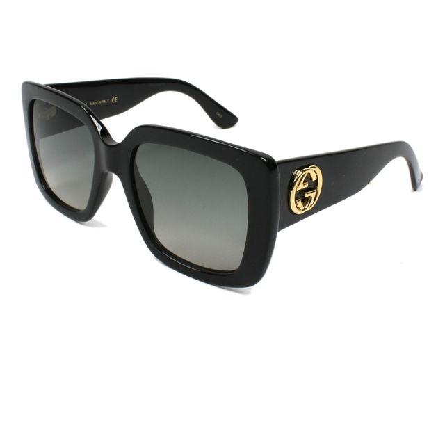 Gucci - Gg-0141-S 001 Noir - Lunettes de soleil - pas cher Achat   Vente  Lunettes Tendance - RueDuCommerce ddcf61768cdd