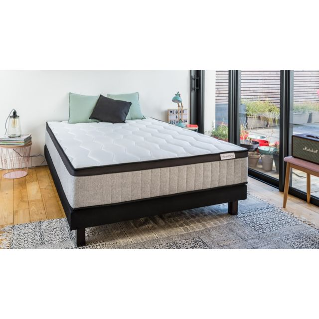 hbedding matelas ressorts ensach s spring memo royal 140x190 mousse visco lastique et. Black Bedroom Furniture Sets. Home Design Ideas