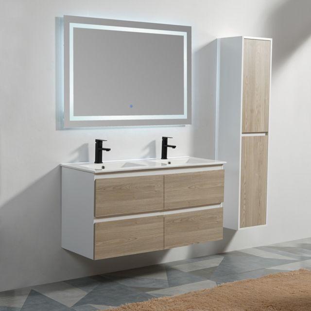 Rue Du Bain - Meuble de salle de bain 4 Tiroirs - Blanc et ...