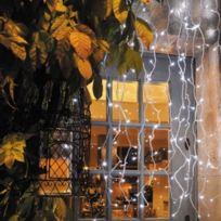 Blachère illumination - Rideau flicker 2mx2m Blanc Pur connectable