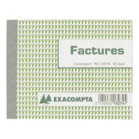 Exacompta - Carnet de facture Manifold autocopiant 10,5 x 13,5 cm 50 pages double exemplaires