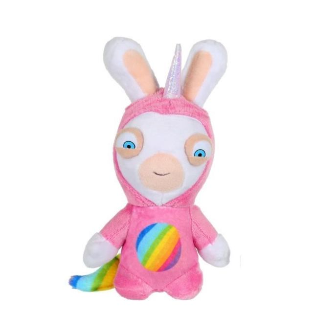 lapins cretins peluche licorne lapicorne sonore rose