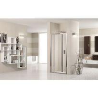 Novellini - Porte de douche pliante verre transparent Lunes S - 66 à 72 cm