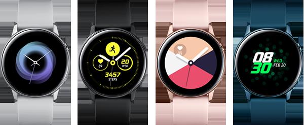 Montre connectée Galaxy Watch Active Samsung Noir pur
