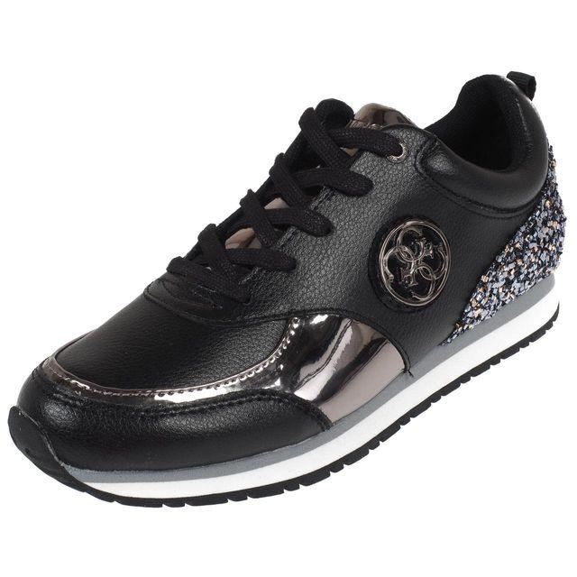 b7c684d3f1fb Guess - Chaussures running mode Reeta black pewter lady Noir 59132 - pas  cher Achat   Vente Baskets femme - RueDuCommerce