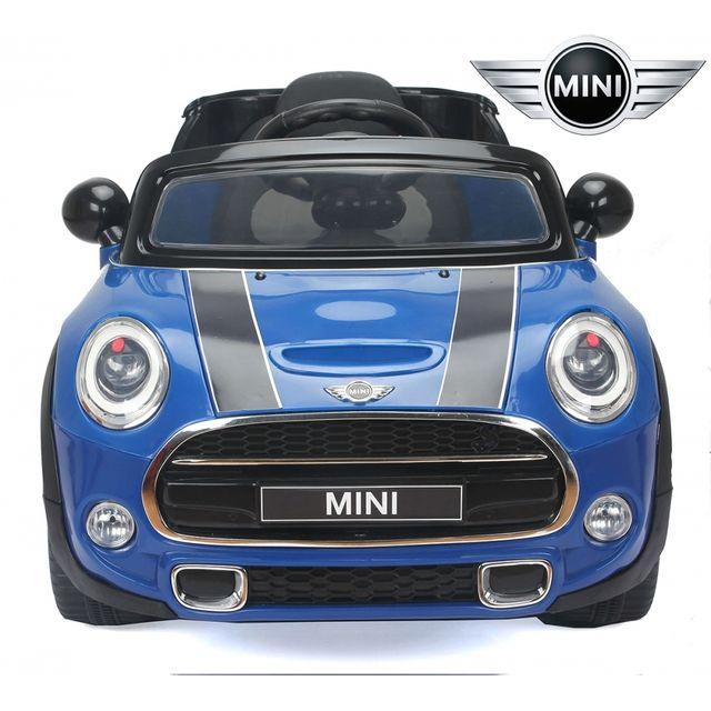 mini petite voiture lectrique enfant 12v cooper s avec radio fm bleu pas cher achat vente. Black Bedroom Furniture Sets. Home Design Ideas