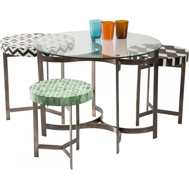 Karedesign Tables basses rondes Musivo Round set de 4 Kare Design