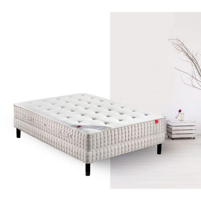 epeda ensemble matelas ressort orchid e sommier pieds 140x190 pas cher achat vente. Black Bedroom Furniture Sets. Home Design Ideas