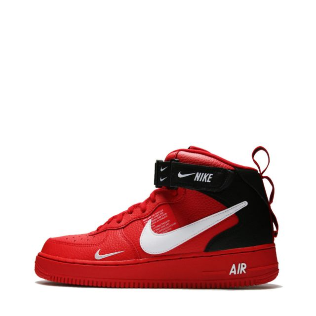 Homme Nike Air Force One Rouge Noir Nike Air Force Montante
