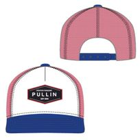 Pullin - Pull In Casquette Homme Microcoton Lincoln Bleu Rouge Blanc