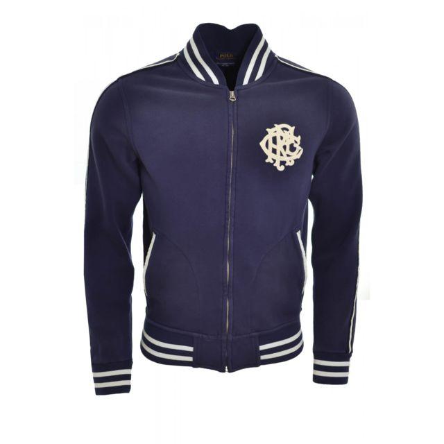 RALPH LAUREN - Veste Wimbledon bleu marine pour homme - pas cher Achat    Vente Blouson homme - RueDuCommerce a15fb3622e2