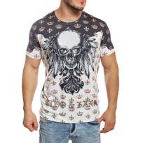 Cipobaxx - Cipo and Baxx - T-shirt manches courtes noir imprimé avec brillants