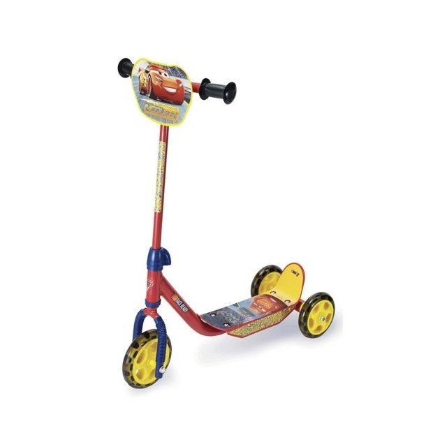Smoby Patinette 3 roues Flash McQueen Cars 3 Disney - Trottinette 3 ans