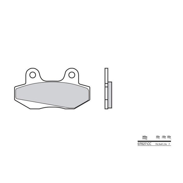 wacox plaquettes de frein brembo 07027cc carbone c ramique avant av scooter pas cher achat. Black Bedroom Furniture Sets. Home Design Ideas