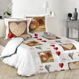 marque generique housse de couette et deux taies 260 cm chalet blanc 260cm x 240cm pas. Black Bedroom Furniture Sets. Home Design Ideas