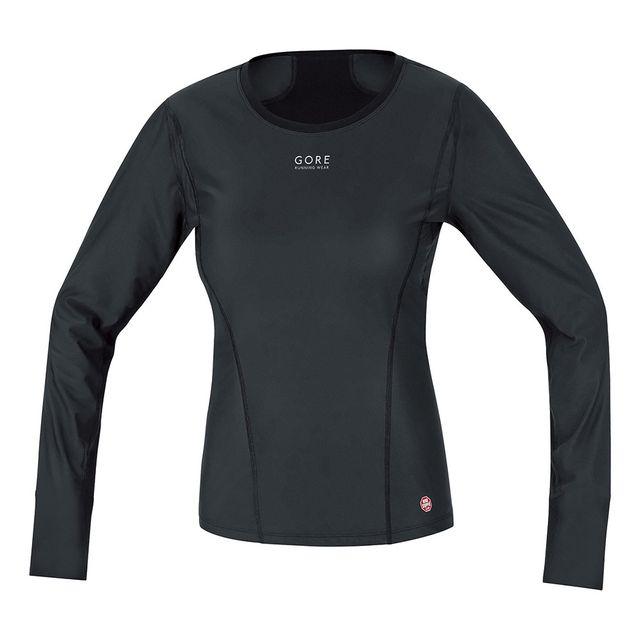 Gore Running Wear T-shirt thermique Essential Base Layer Windstopper Ml noir femme