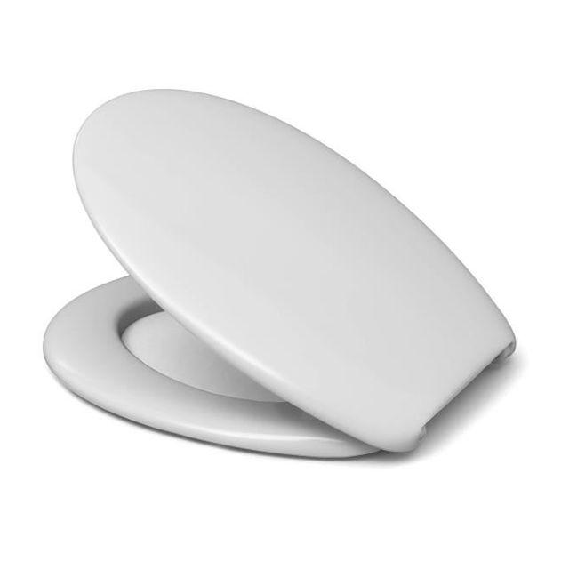 cedo abattant wc avec frein de chute blanc 530411 pas cher achat vente abattant wc. Black Bedroom Furniture Sets. Home Design Ideas