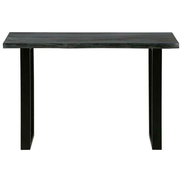 Icaverne - Tables basses reference Table console Bois de Melia azedarach 110x35x75 cm Gris