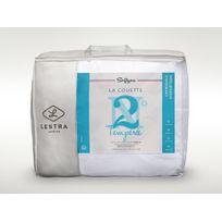 Lestra - Couette tempérée confort moelleux enveloppe microfibre Softyne