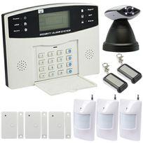 EMATRONIC - Alarme kit mixte sans-fil et filaire Gsm et caméra Ip motorisée - Al01C - Pour 3 ou 4 pièces