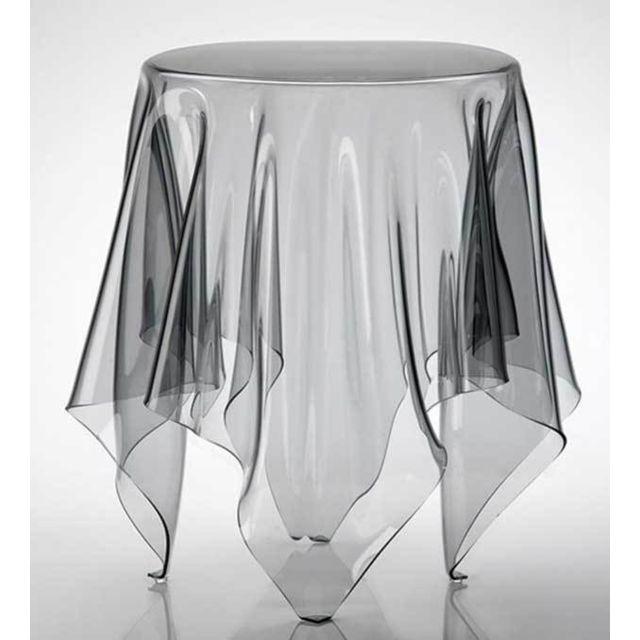 Kasalinea Table d'appoint en polycarbonate transparent design Darina