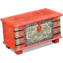 Vidaxl - Coffre de rangement Bois manguier rouge 80 x 40 45 cm