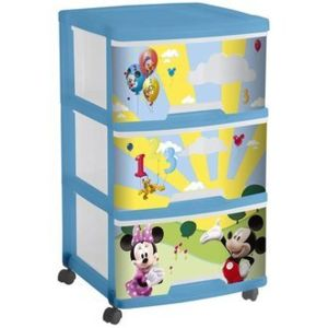 disney tour de rangement 3 tiroirs mickey pas cher. Black Bedroom Furniture Sets. Home Design Ideas