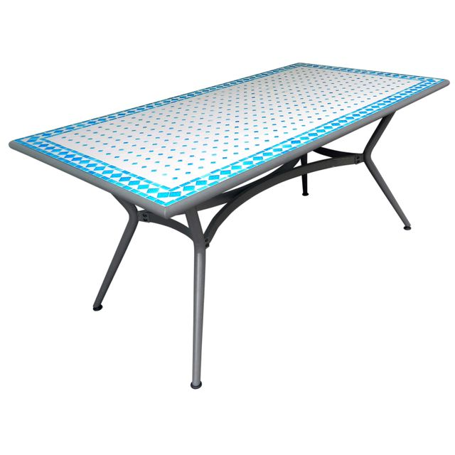 CARREFOUR - Table de jardin mosaïque rectangulaire ...