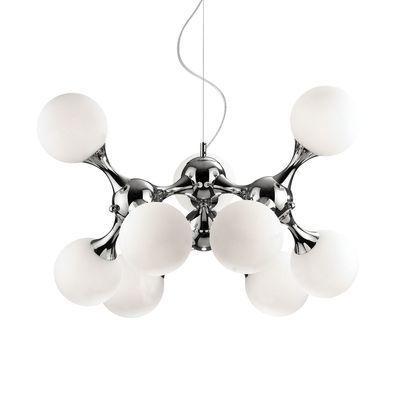 boutica design suspension nodi blanc 9x40w ideal lux 082059 pas cher achat vente. Black Bedroom Furniture Sets. Home Design Ideas