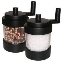 WILLIAM BOUNDS - 2/03811 - moulin à poivre + moulin à sel 10.9cm noir Twist Noir